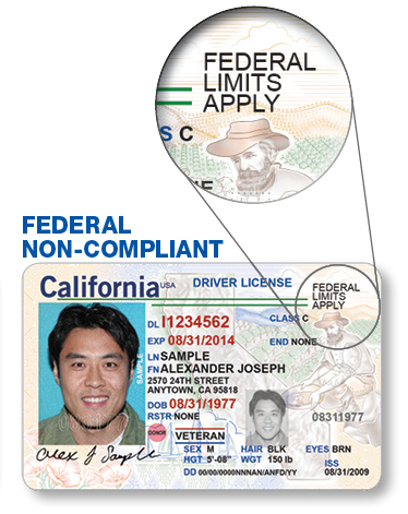 Federal Non-Compliant California Driver License