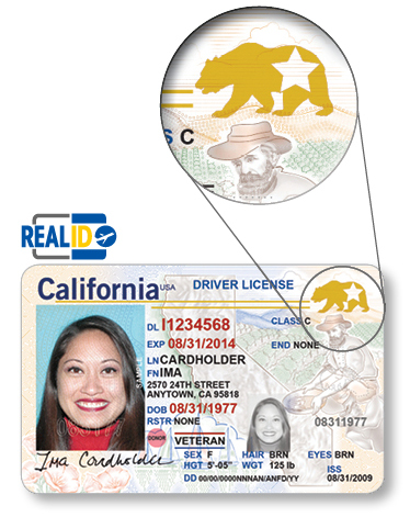 REAL ID Compliant California Driver License