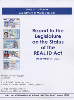 REAL ID Act December 2006 Cover