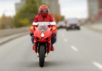 Red Motorcycle Rider