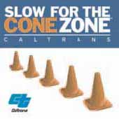 Caltrans 'Cone Zone' graphic
