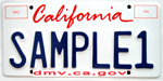 Photo of the Environmental License Plate