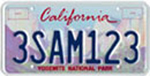 Photo of theYosemite Conservancy License Plate