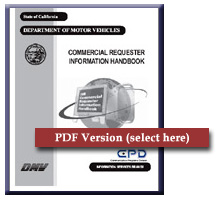 Cover of Commercial Requester Information Handbook
