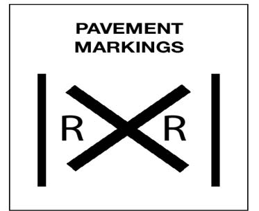 Image of Railrad Crossing Pavement Marking