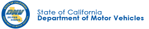 State of California Department of Motor Vehicles logo