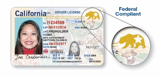 Example of federal compliant real ID driver's license
