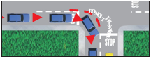 Image of a vehicle making a right turn