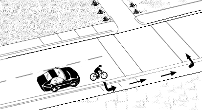 Properly making left turns using crosswalks on a bicycle.
