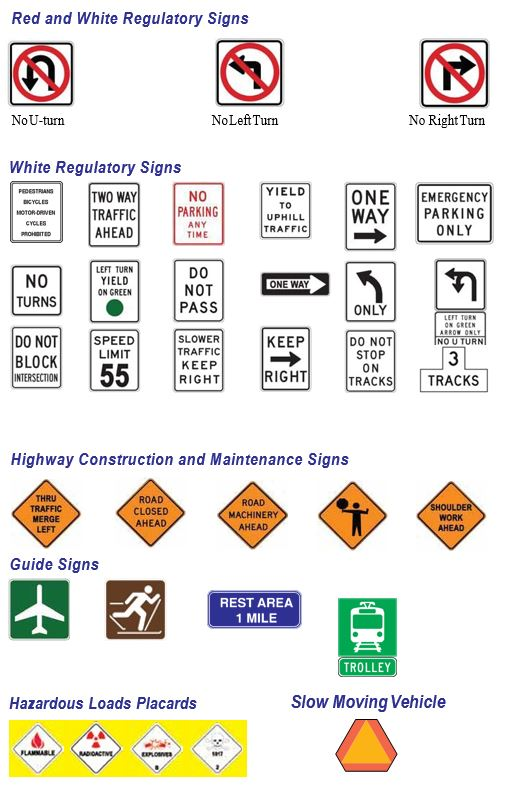 image of various traffic signs