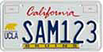 The California UCLA Alumni Association special interest license plate.