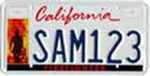 California firefighters license plate.