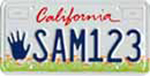California Have A Heart, Be A Star, Help Our KIDS license plate.