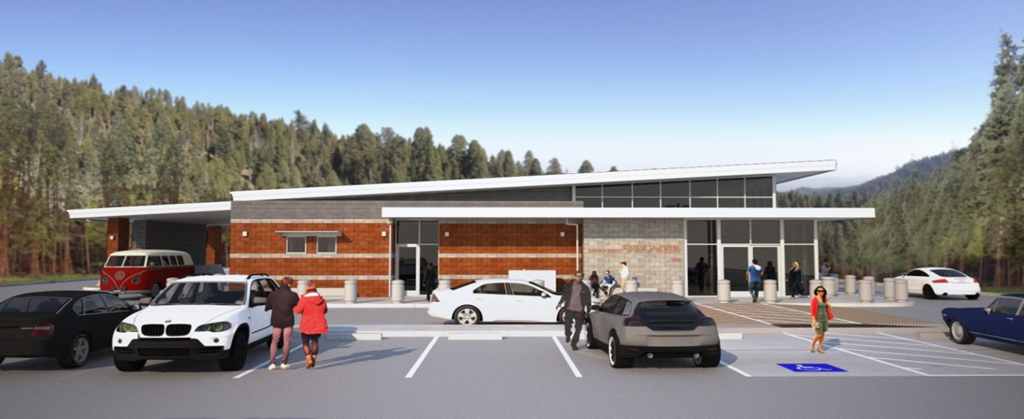 Artist rendering of the future Grass Valley field office