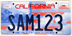 Memorial special interest license plate.