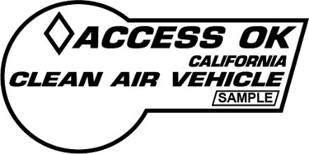 2000 Clean Air Vehicle decal.